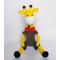 Вязаная игрушка Жираф Ученый