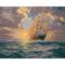 Картина раскраска для взрослых Рассвет под парусами