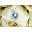 Сердце Swarovski Комплект бижутерии с камнями Сваровски,  голубой