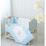 Детский постельный комплект в кроватку De Lux голубой 2