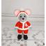 Вязаная игрушка Дед Мороз - мышка