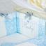 Детский постельный комплект в кроватку De Lux голубой 1