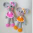 Вязаная игрушка Мышка-девочка купить Киев